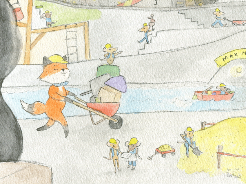 One of many illustrations from a story book app I've just completed illustrating