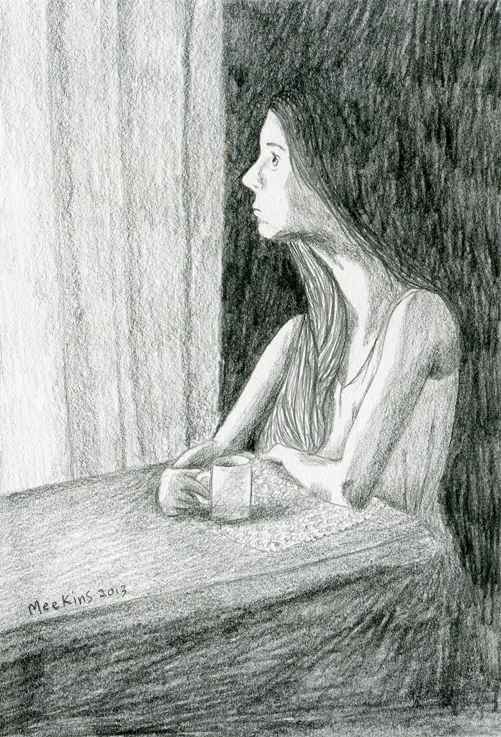 A sketch I did based on a photograph by Sally Mann
