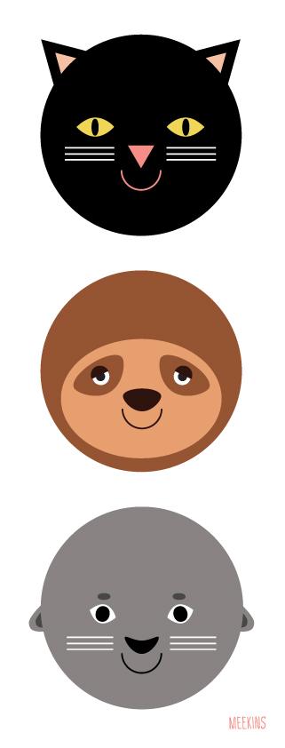 Animal illustration concept