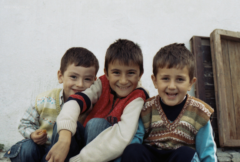 Smiley boys in Turkey