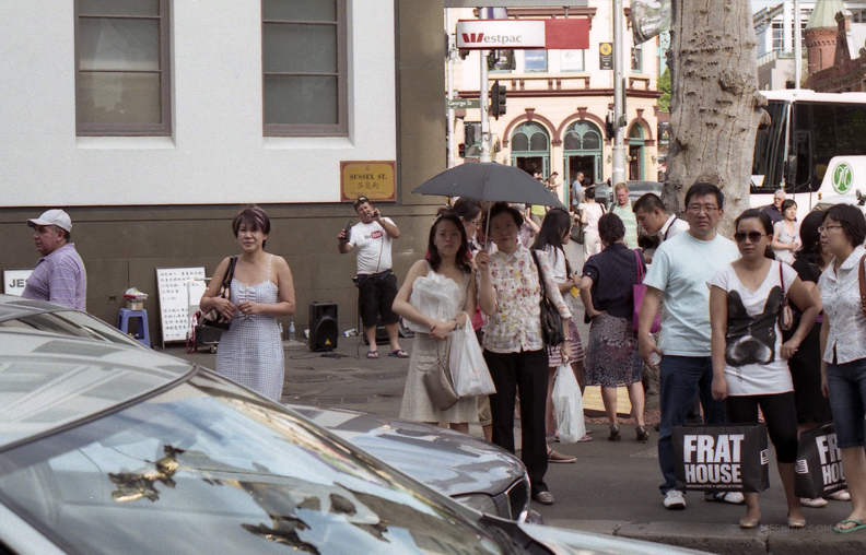 A busy day in Chinatown, Sydney, Australia.