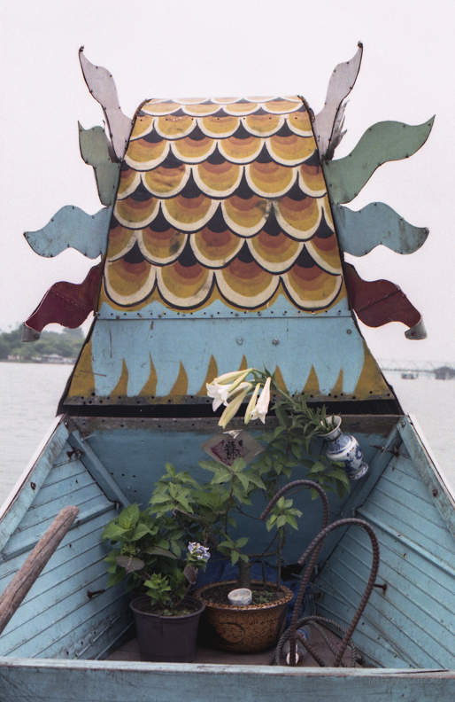 On a river boat in Vietnam.