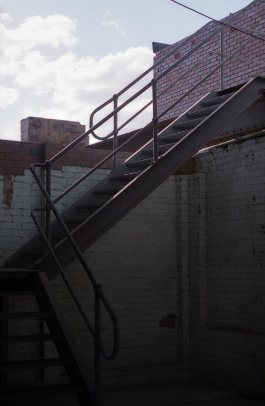 A stairwell on Cockatoo Island, Australia.