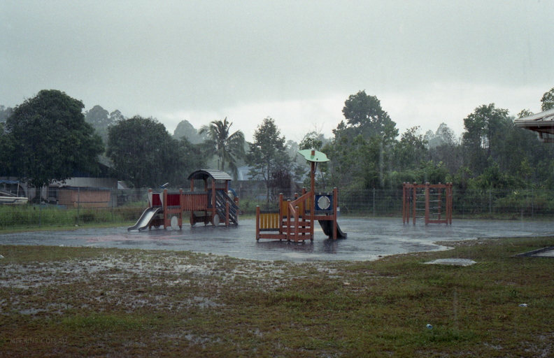 A tropical downpour in Brunei.