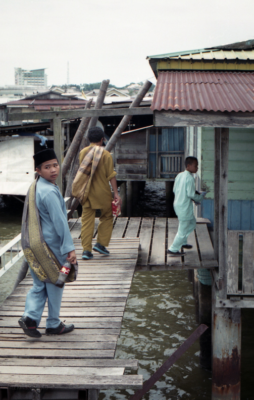 Boys heading home after school. Taken in Brunei.
