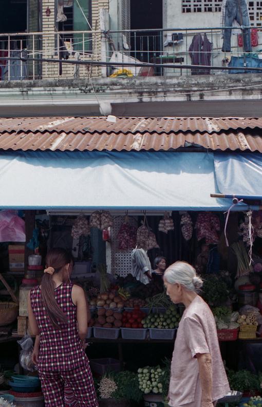 Markets in Saigon, Vietnam.