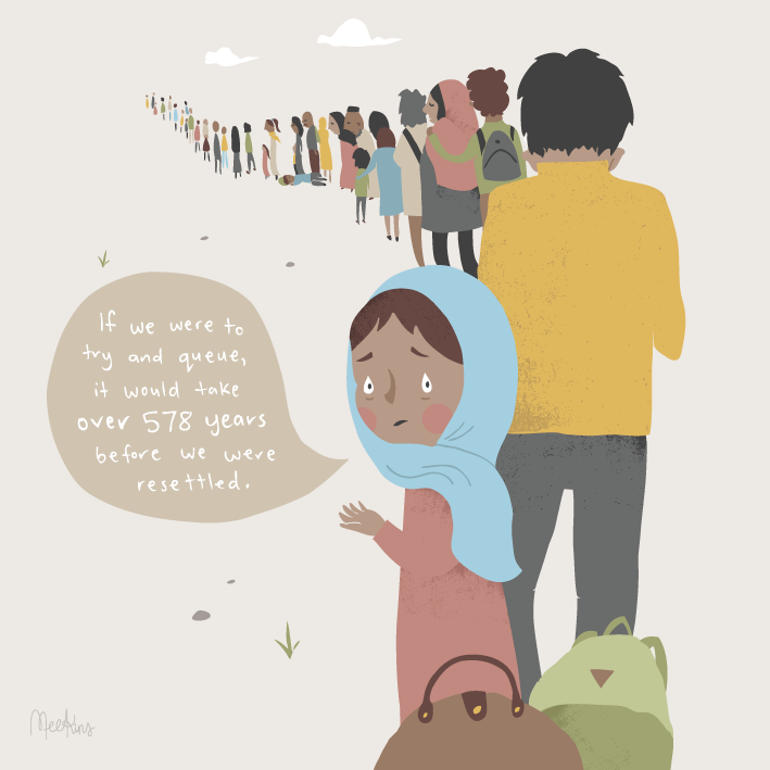 Part of a series of illustrations I provided to The Red Cross. The program is to educate children and debunk the myths surrounding asylum seekers.